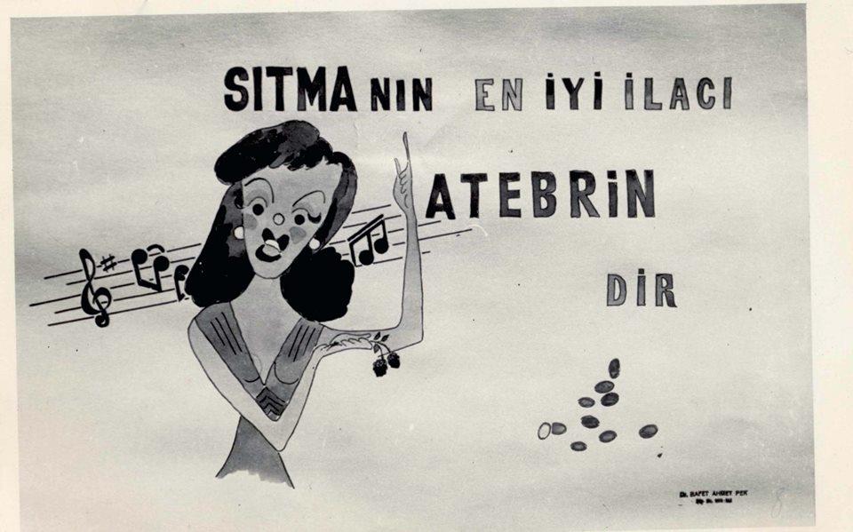 Sıtma ile mücadelede kullanılan çok sayıda afişlerden biri...