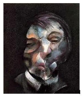 Bacon, Kendi portresi, 1971, T.Ü.Y.B., 35.5x30.5 cm.,( Georges Pompidou Modern Sanat Müzesi, Paris)