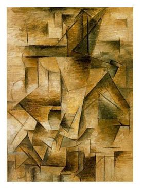 Picasso, Gitarist, 1910, T.Ü.Y.B., 73 X 100 cm.